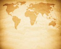 Rusty world map Royalty Free Stock Photo