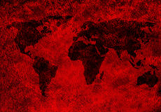 Rusty world map Royalty Free Stock Photo