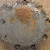 Rusty worn iron with holes Stock Images