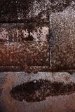 Rusty worn and scratched metallic background Stock Photo