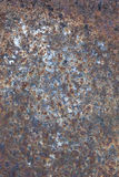 Rusty and worn surface of the iron plate Stock Image