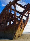 Rusty Wreckage of a Ship Royalty Free Stock Photo