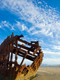 Rusty Wreckage of a Ship Royalty Free Stock Image