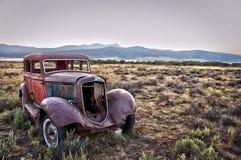 Rusty wrecked car Stock Photos