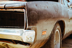 Rusty wrecked car Stock Photography