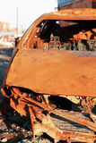 Rusty wrecked car Stock Image