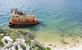 Rusty wrecked ship Royalty Free Stock Photo