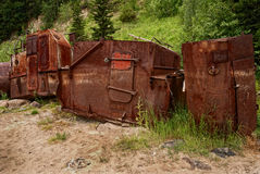 Rusty wrecks, adapted for barn, with filter tonal contrast Royalty Free Stock Image