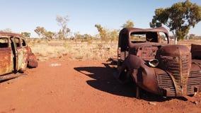 Rusty wrecks of old cars