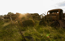 Rusty Wrecks Royalty Free Stock Images