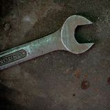 Rusty wrench Stock Images