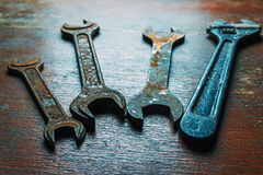 Rusty wrenches Royalty Free Stock Photography