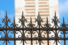 Rusty Wrought Iron Fence Stock Photo