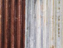 Rusty zinc as abstracted background Stock Photos