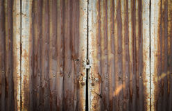 Rusty zinc door lock with key Royalty Free Stock Images