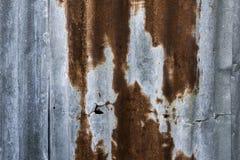 Rusty Zinc grunge old wall background Stock Photo