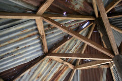 Rusty Zinc grunge roof Royalty Free Stock Images