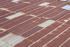 Rusty Zinc grunge roof old Royalty Free Stock Image