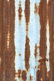 Rusty zinc metal plate Stock Photos