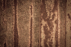Rusty on zinc metal plate texture Royalty Free Stock Photo