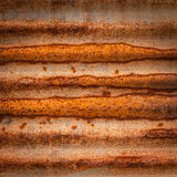 Rusty on zinc metal Stock Images