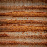 Rusty on zinc metal plate texture Royalty Free Stock Image