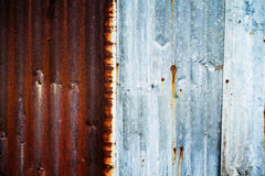 Rusty on zinc metal plate texture Stock Image