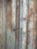 Rusty Zinc Surface With Blue en Bruine Kleur royalty-vrije stock afbeeldingen