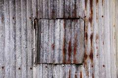 Rusty zinc window Stock Photos