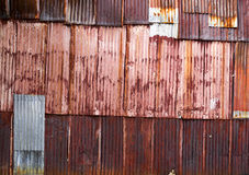 Rusty zync. Texture of rusty and erode galvanized iron Stock Images