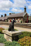 Ruswarp statue, Garsdale station Settle & Carlisle Stock Images