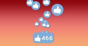 Ruszać się jak ikony z liczbami 4k ilustracji