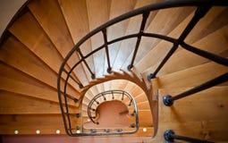 ruszać się po spirali schodki Obrazy Stock