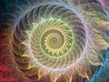 Ruszać się po spirali tło Fotografia Royalty Free