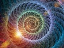 Ruszać się po spirali tło Zdjęcie Stock