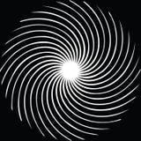 Ruszać się po spirali tło również zwrócić corel ilustracji wektora Kurenda, promieniuje abstrakcjonistycznego kształta wzór royalty ilustracja