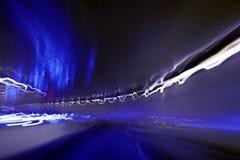 Ruszać się przez tunelu Zdjęcia Stock