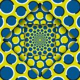 Ruszać się warstwy z kurenda wzorem Abstrakcjonistyczny okulistycznego złudzenia tło ilustracji