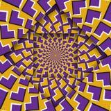 Ruszać się warstwy z kurenda wzorem okulistyczny tła złudzenie ilustracja wektor