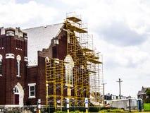 Rusztować na kościół Obraz Stock