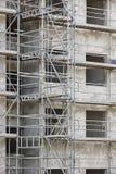Rusztować strukturę na budynku Budowy architektura ja Fotografia Stock