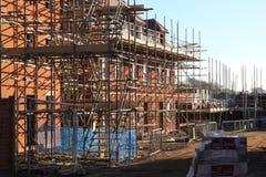Rusztować na nowym budowa domu. Fotografia Stock