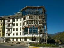 Rusztowanie budowa Bhutan Fotografia Royalty Free