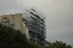 Rusztowanie, budynku odświeżanie - Paryż, Francja zdjęcie royalty free