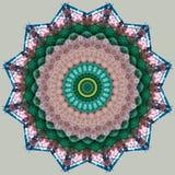 Rusztowanie zakrywający z brezentem widzieć przez kalejdoskopu ilustracja wektor