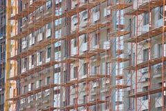 Rusztuj?cy dla zewn?trznej dekoracji dom, nowo?ytna budowa kondygnacja i budynki mieszkaniowi, Betonowe struktury zdjęcie stock