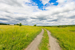 Rut road in steppe Stock Image