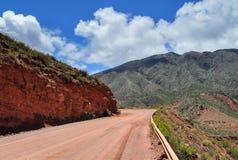 Ruta 40 дороги в Cuesta de Miranda ареальных стоковые фото