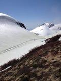 Ruta alpina de Tateyama Kurobe (montañas) de Japón, ciudad de Toyama fotografía de archivo libre de regalías