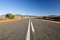 Ruta 62 cerca de Oudtshoorn - Suráfrica Foto de archivo libre de regalías